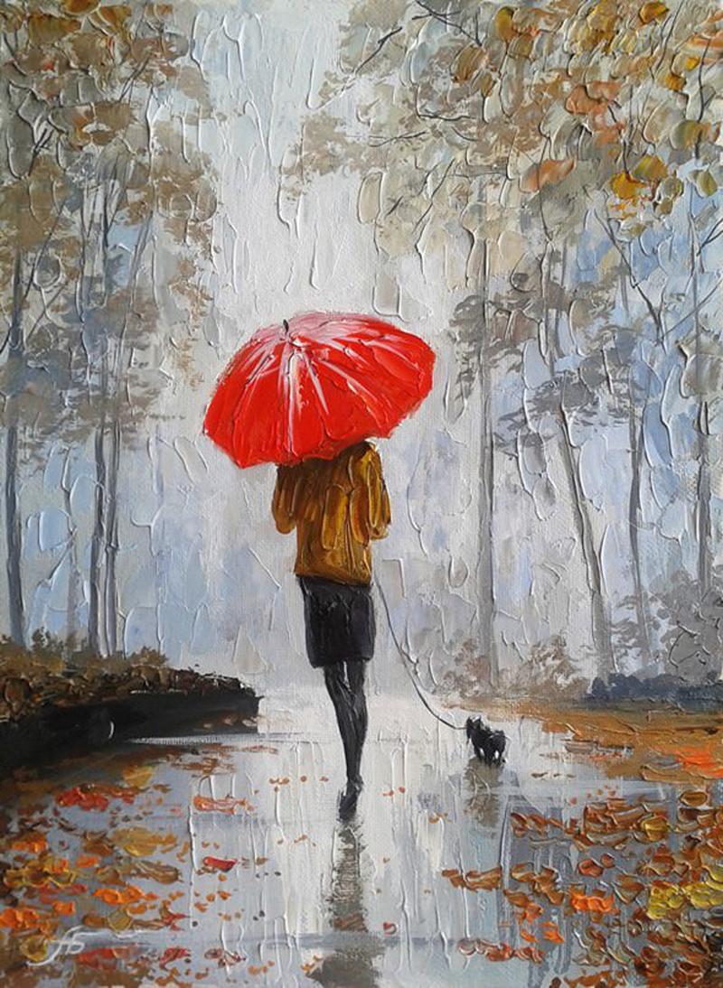 Александр Болотов-Девушка под зонтиком..jpg