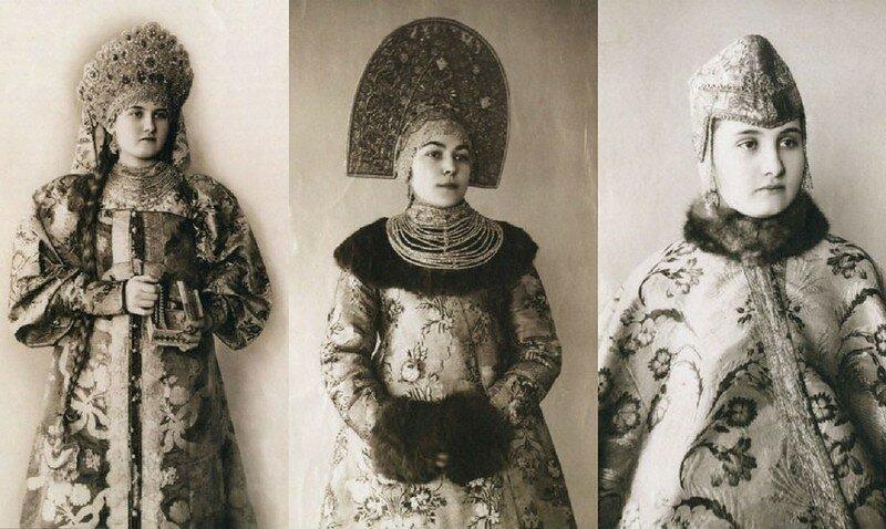 0 17a7f5 75313a1f XL - Девушки в древних славянских костюмах на старинных фотографиях