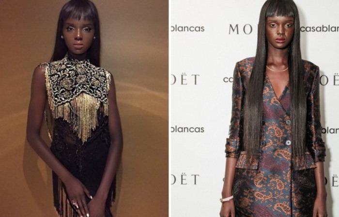 Даки Тот (Duckie Thot) родом из Южного Судана, у нее роскошный темный цвет кожи, длинные волосы и оч