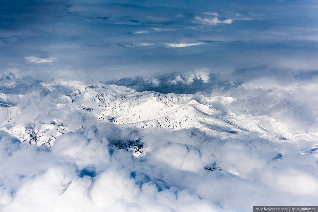 Фотографии из окна самолёта — 2017
