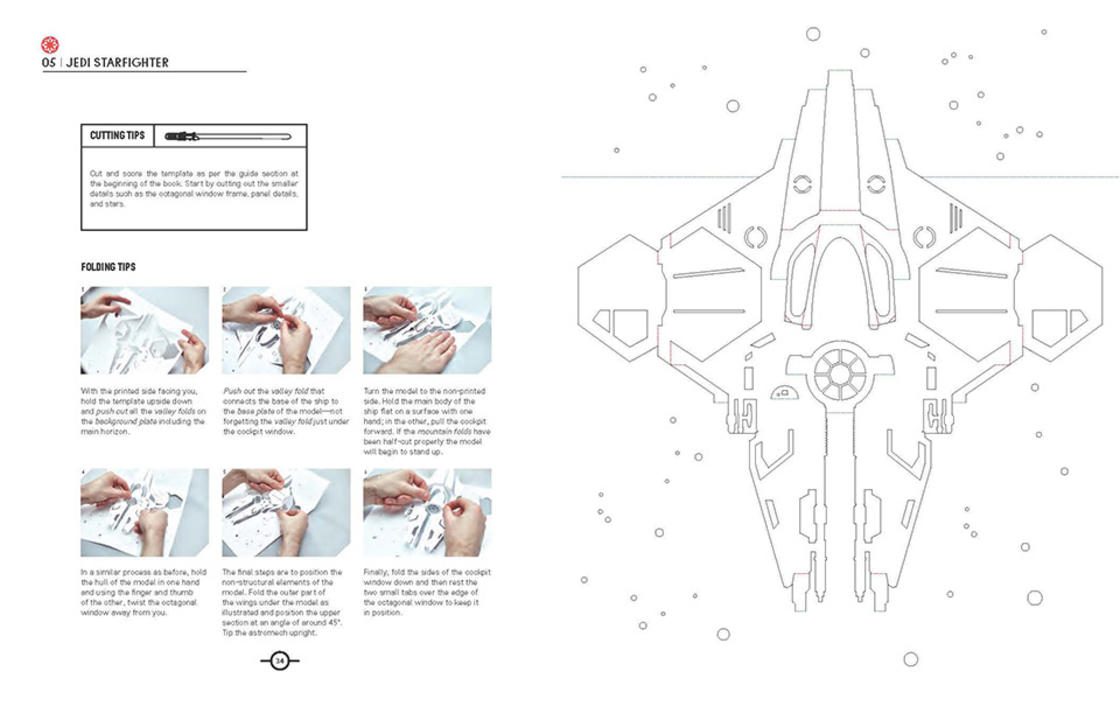 Star Wars Kirigami – Building the Star Wars spaceships with paper art