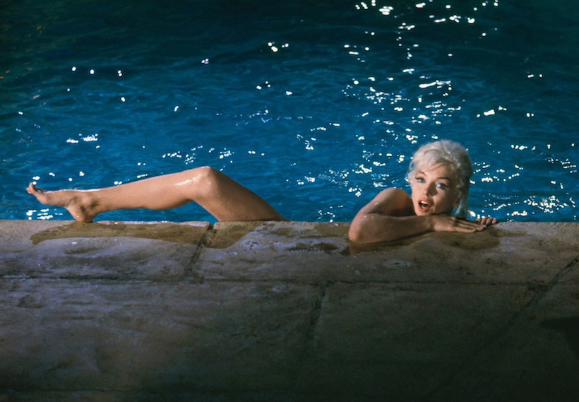 Marilyn Monroe, tournage de  Something's Got to Give,  Hollywood, mai 1962. (© Lawrence Schiller/gal