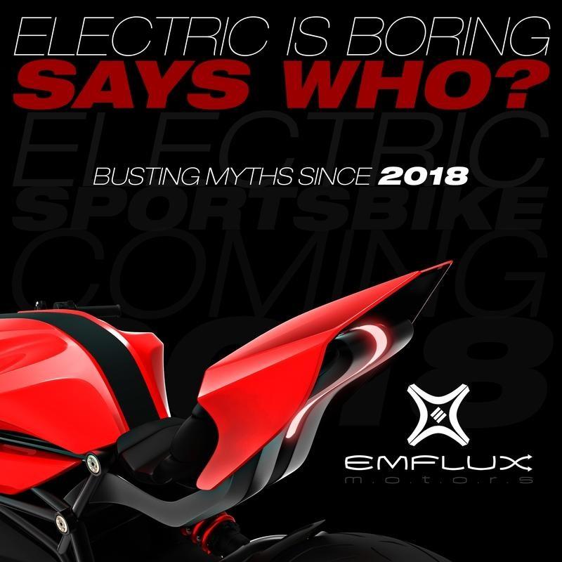 Концепт электроспортбайка Emflux Motors представят на Auto Expo 2018