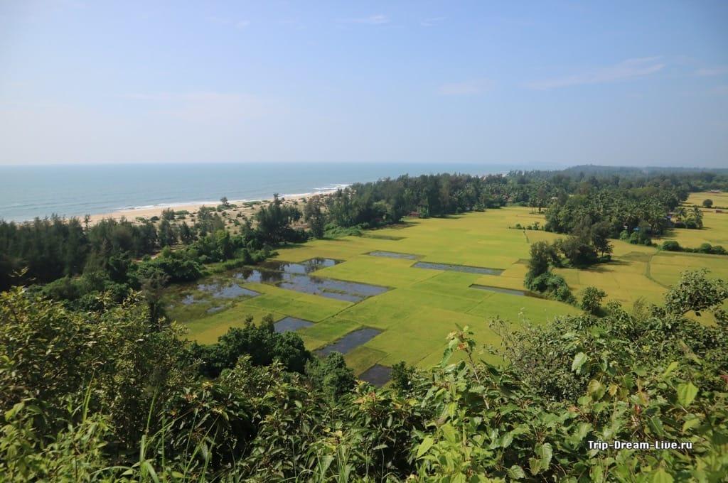 Вид со смотровой площадки в Apsarakonda Park