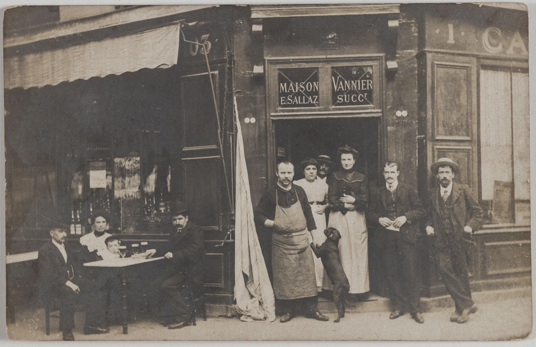 1903. Кафе. Дом Ваннье, преемника Э. Саллаза