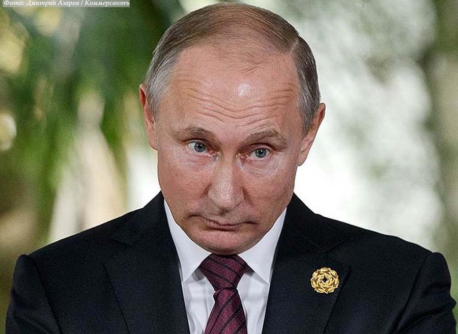 Владимир Путин, портретка  11 ноября, 2017-го, фотограф  Дмитрий Азаров для Коммерсанта