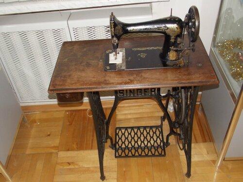 Ножная швейная машинка Зингера