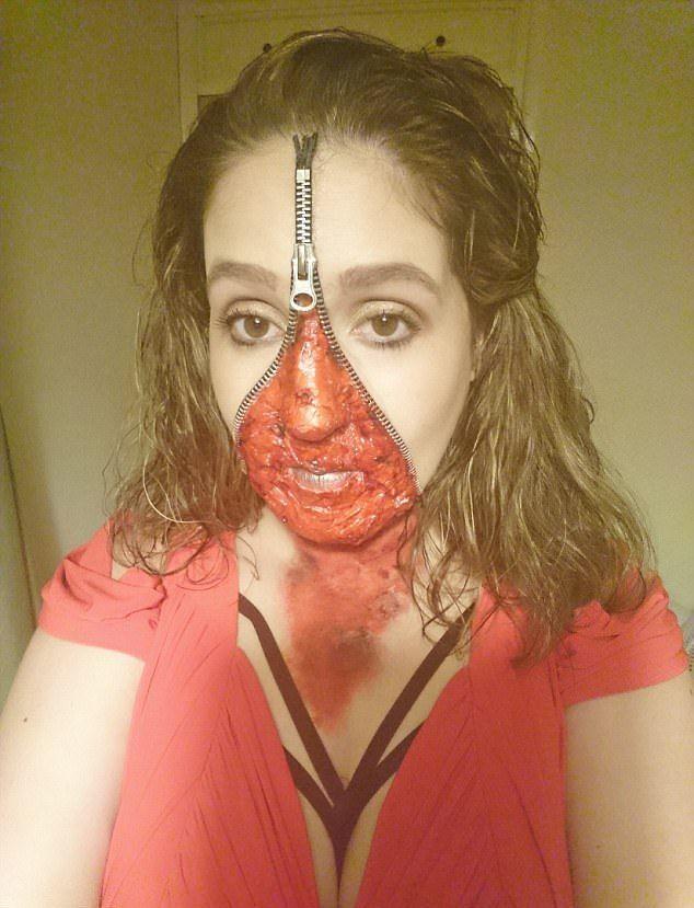Хотела стать страшной на один вечер, а вышло на неделю (8 фото)
