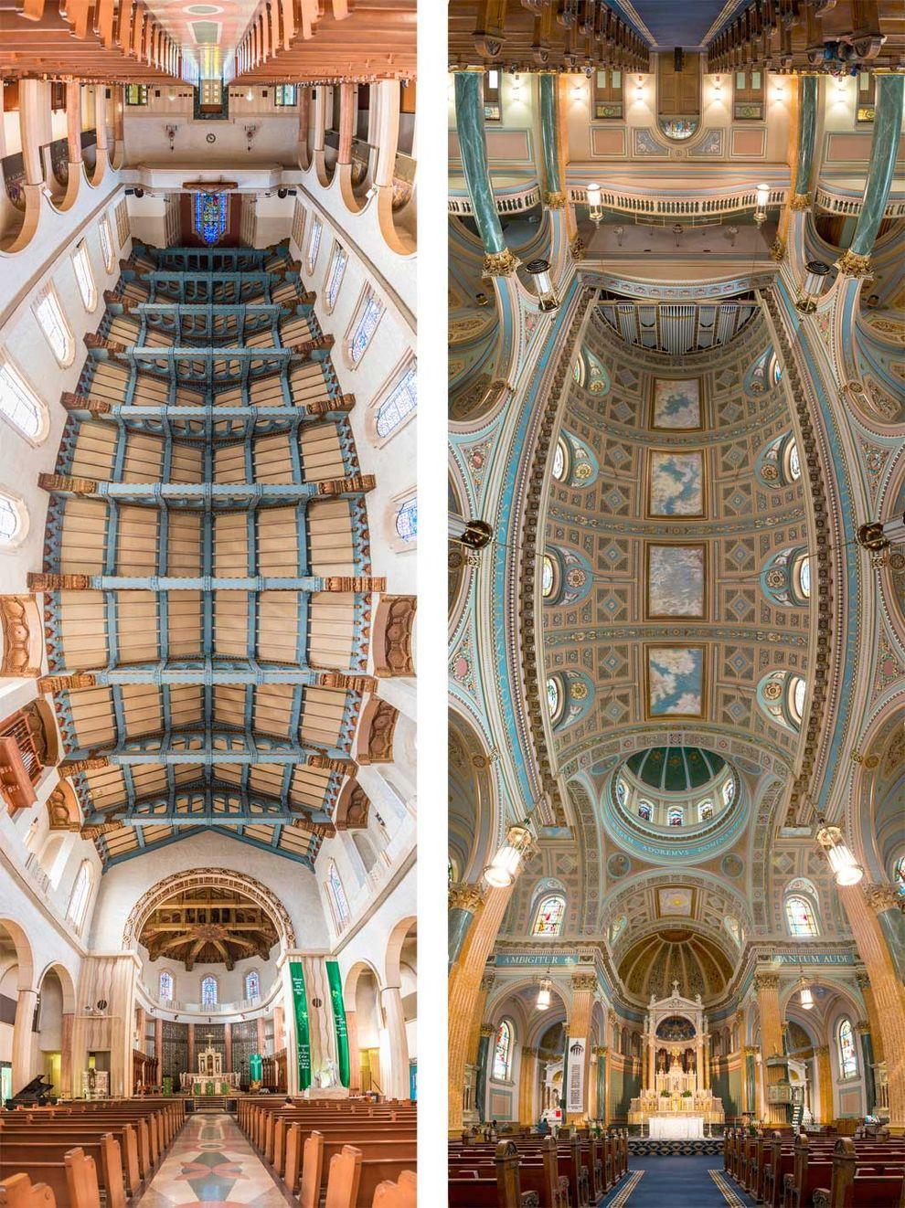 Потрясающие снимки храмов от входа до алтаря в одном фото (4 фото)