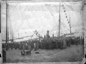 Парусник Святой мученик Фока в порту Архангельска