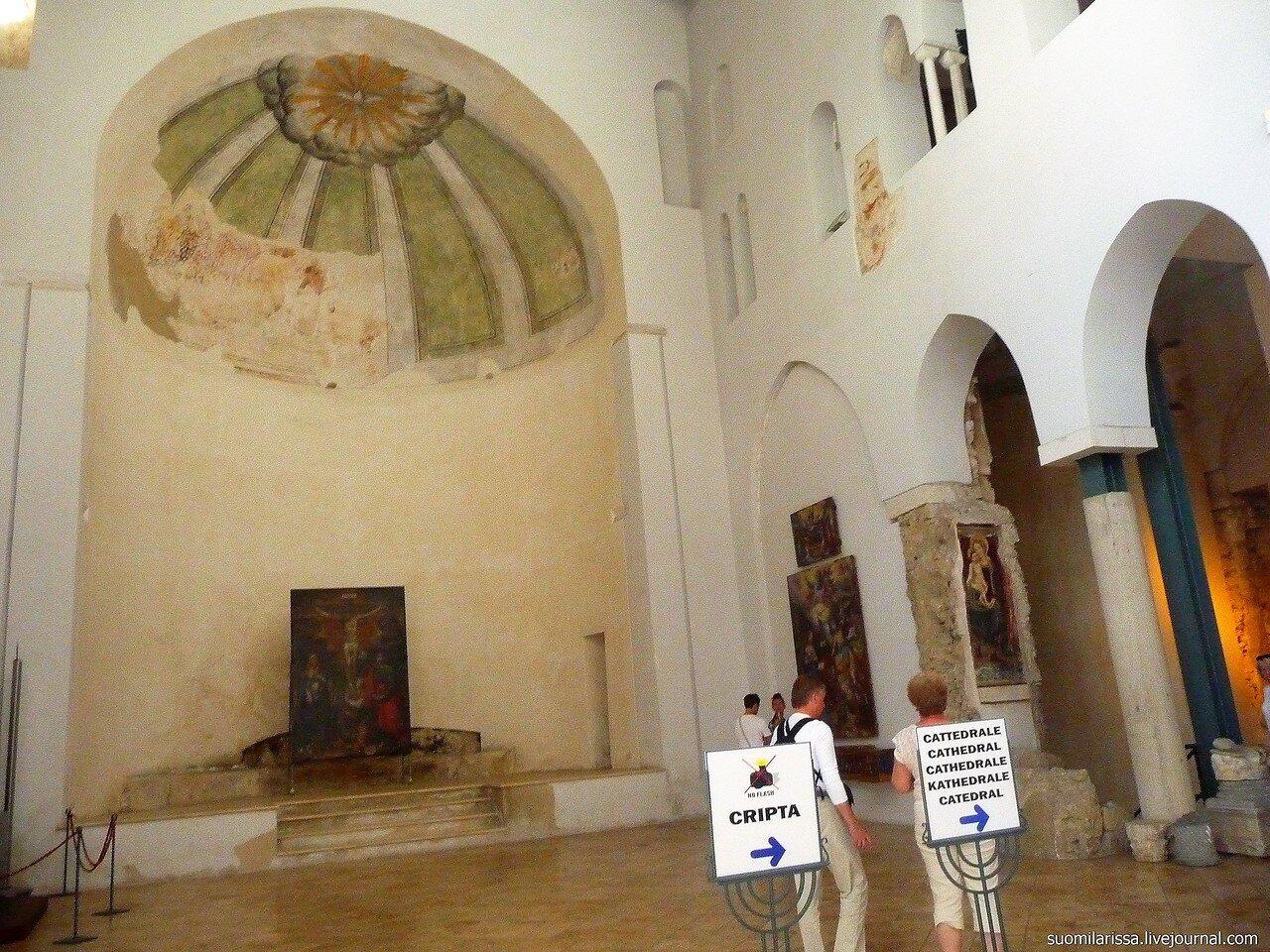 Апсида базилики 9 века.