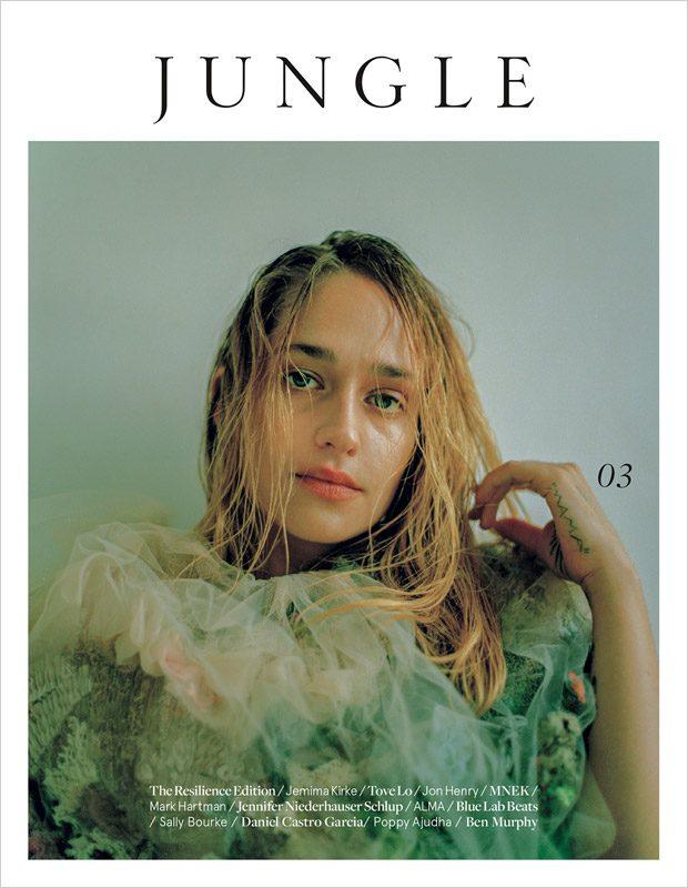 Girls star  Jemima Kirke  takes the cover story of  Jungle Magazine  &