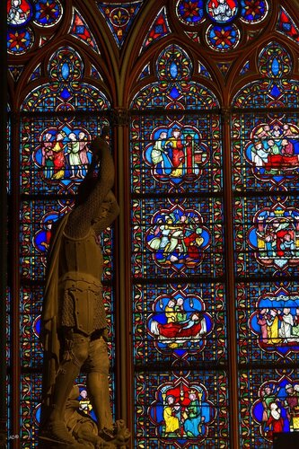 Paris - Notre Dame (stained-glass windows)