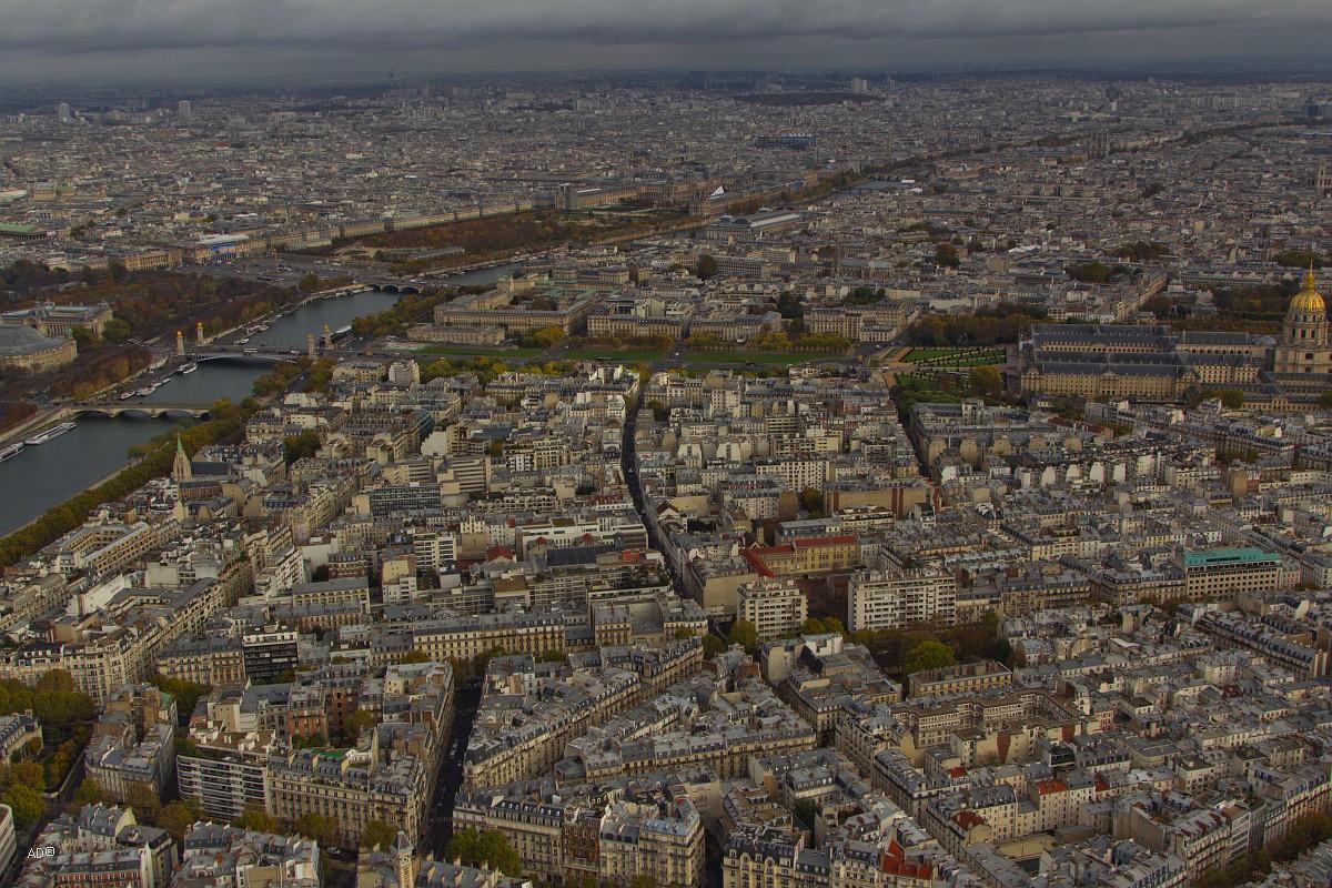 Париж - Виды с Эйфелевой башни (3-й этаж, общие виды)