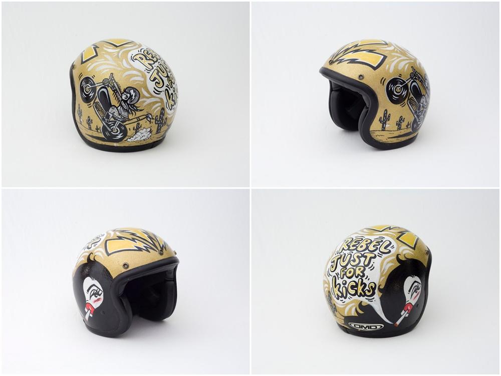 Коллекция мотошлемов с ручной аэрографией продали с благотворительного аукциона