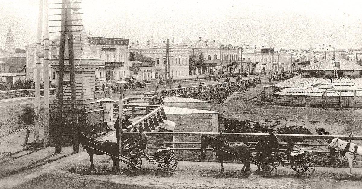 Извозчичья биржа у Думского моста