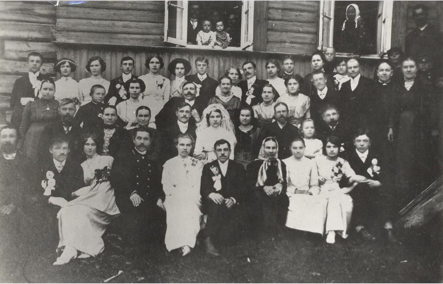 Свадебное фото. 1912
