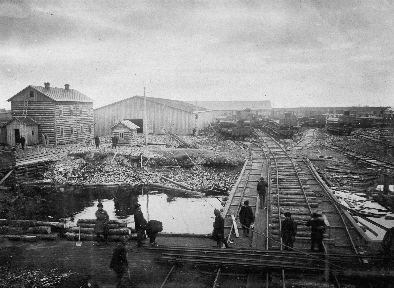 Причалы в Маймаксе. 1914