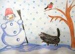 Крашенинникова Алёна (рук. Седова Наталья Геннадьевна) - Зимняя прогулка кота Барсика