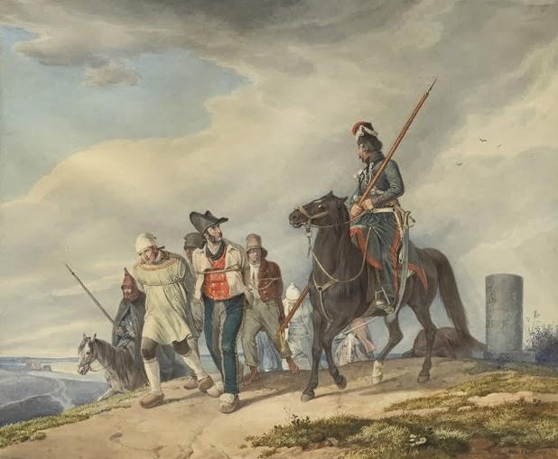 казак, конвоирующих пленных.jpg