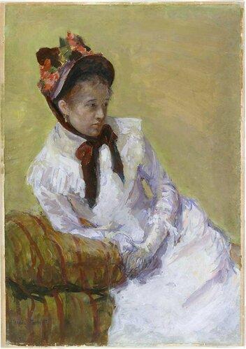 Мэри КассатАвтопортрет 1878 г.Бумага, гуашь.Метрополитен-музей, Нью-Йорк.