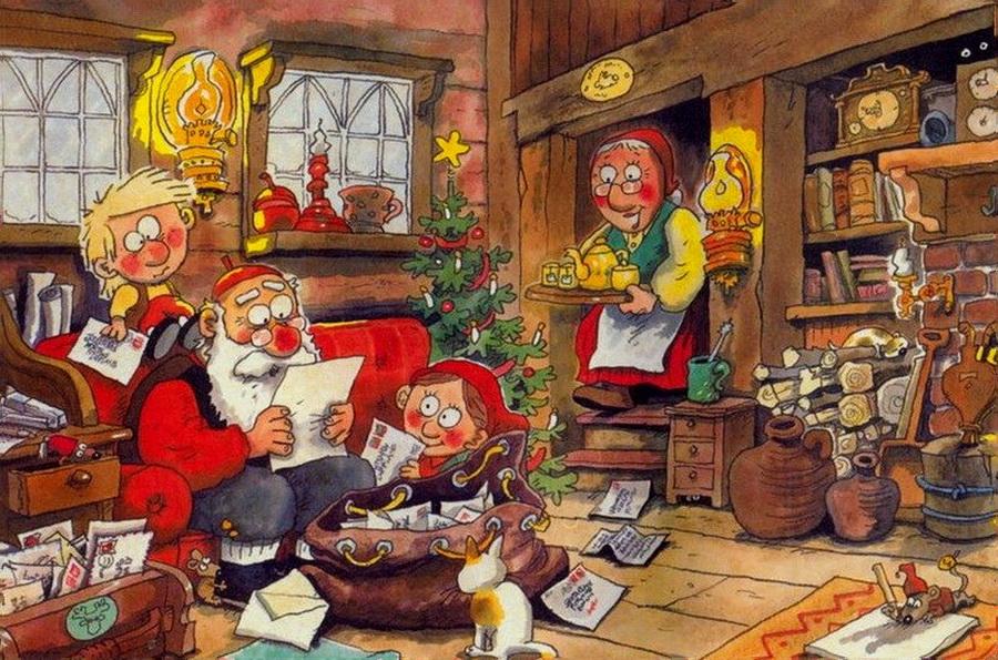 Поздравление с новым годом по шведски очень тщательно