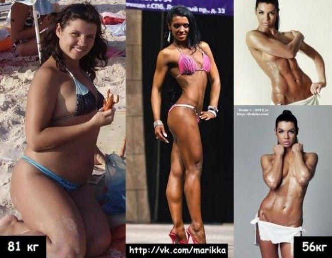 Ей удалось сбросить больше 30 кг и и набрать мышечную массу.