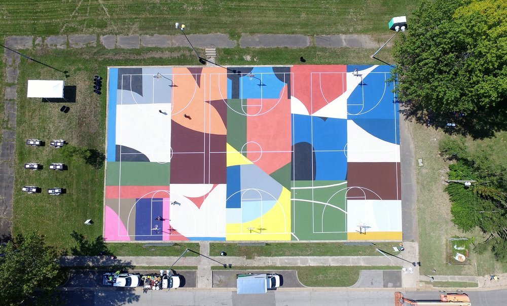 Basketball Courts Transformed Into Large-Scale Artworks by Project Backboard (7 pics)