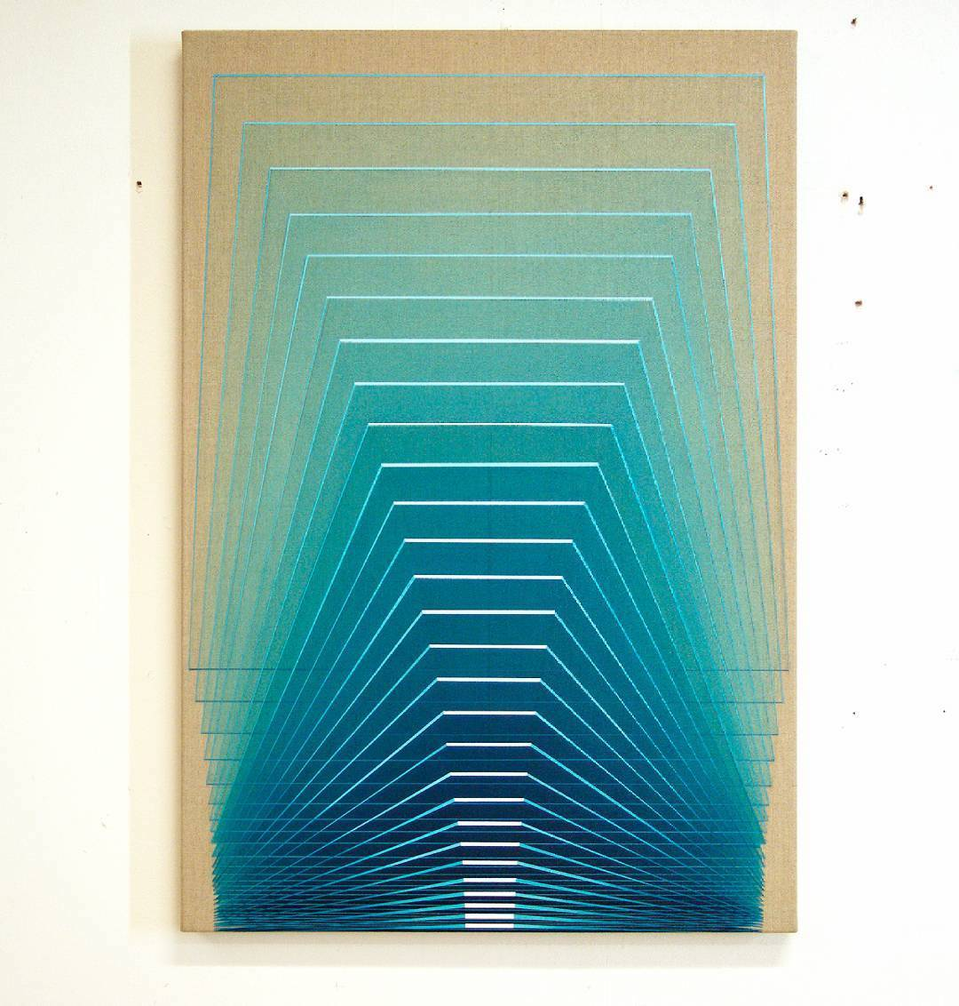 Collaborative Acrylic Paintings That Aim to Visually Map the Perceptual Experiences of Synesthesia