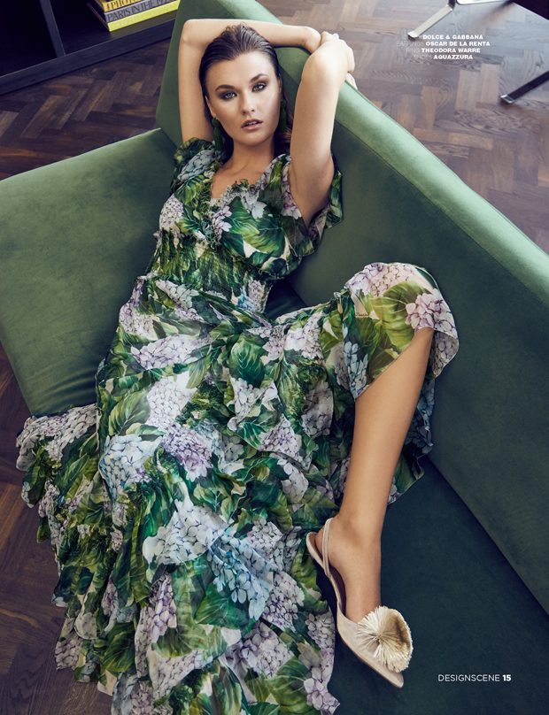 With boho  style  it's all about comfort. Pair the Hydrangea-print gown from Dolce & Gabbana with po
