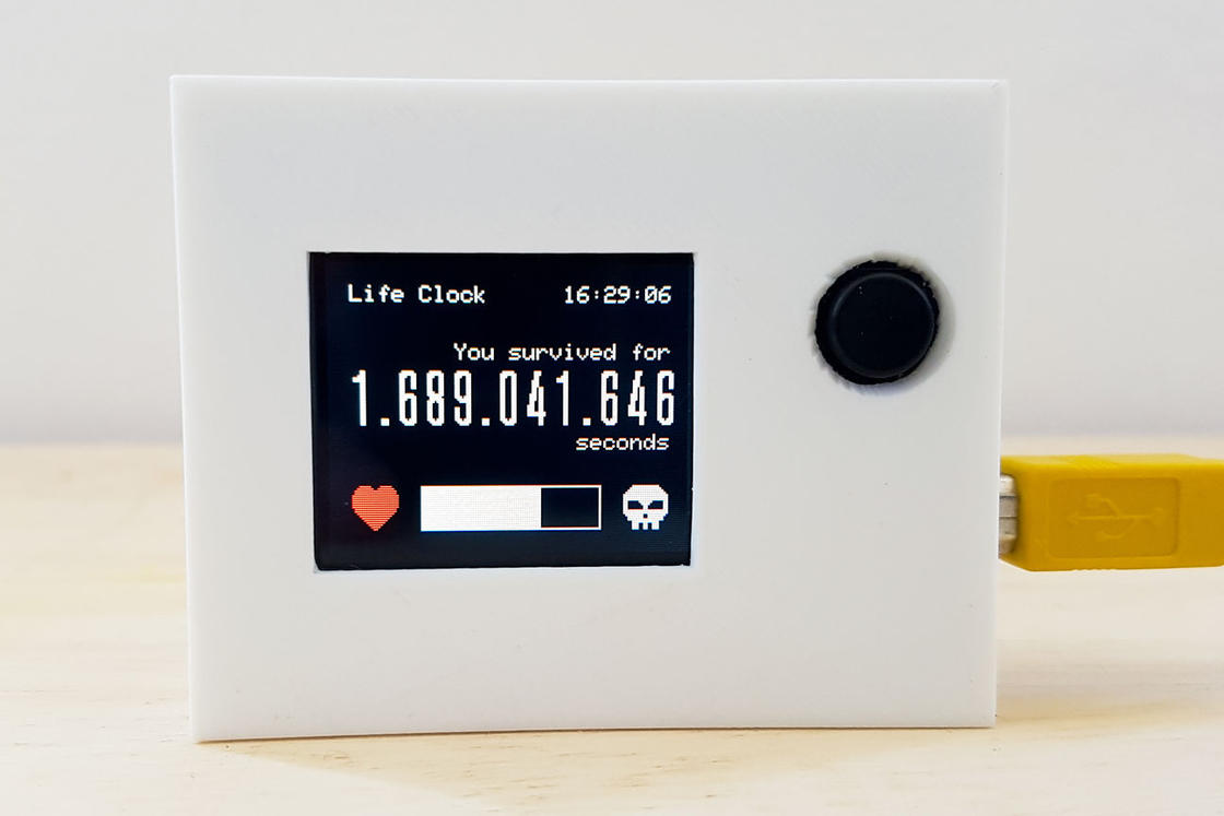 Life Clock – This clock displays the number of seconds since your birth