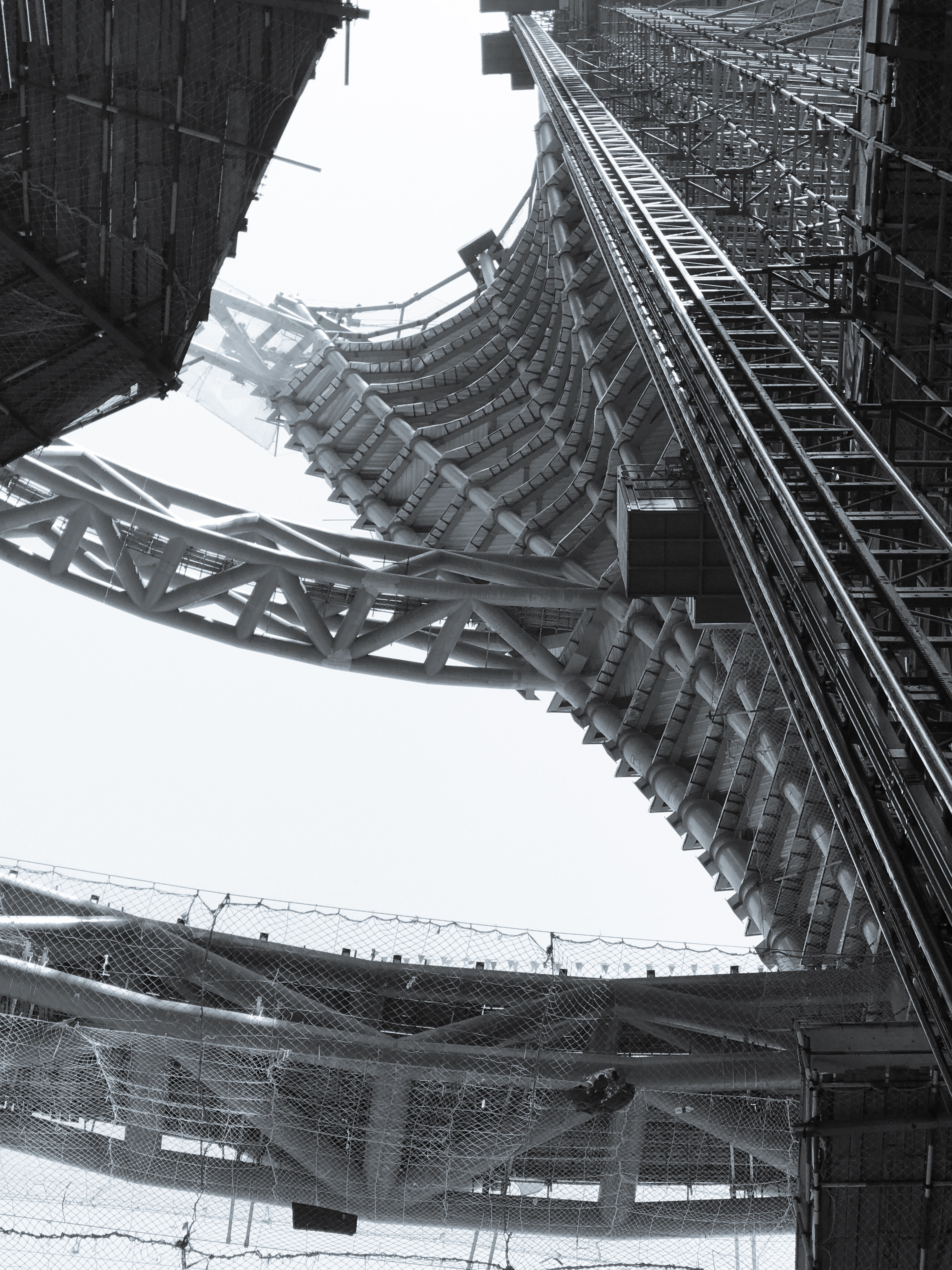 Zaha Hadid's Leeza SOHO Tower Construction Pictures
