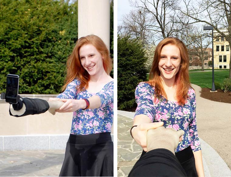 Selfie Arm – Using a fake fiberglass arm to replace your ugly selfie sticks? (10 pics)