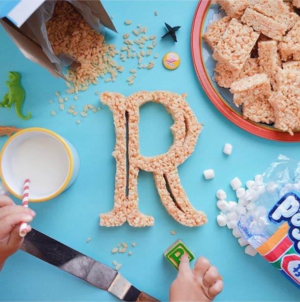 Food Alphabet – Designer teachs letters to his daughter