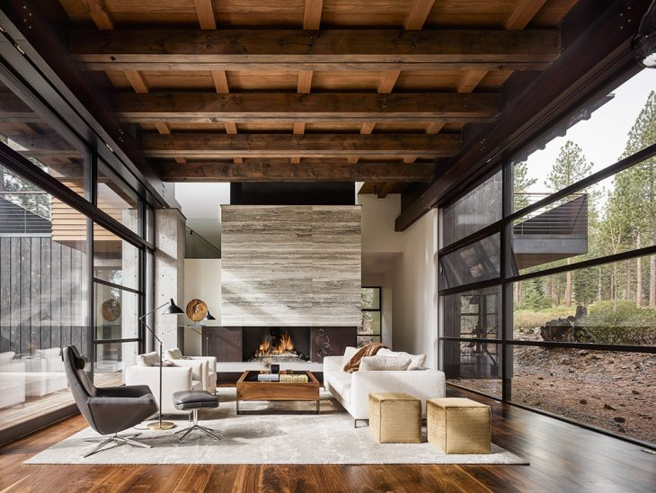 Faulkner Architects  designed this stunning weekend house located in Martis Camp, Pl