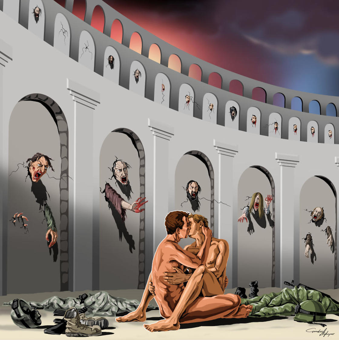 Sad World – The latest satirical illustrations by Gunduz Agayev