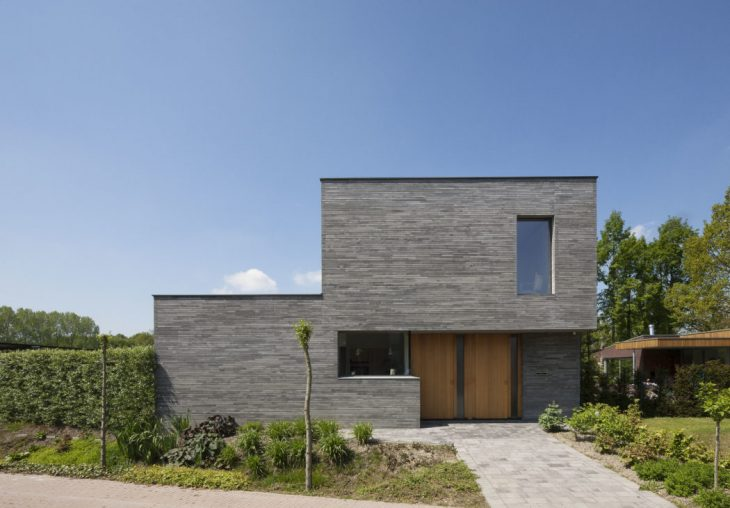 Joris Verhoeven Architectuur  designed this stunning modern brick residence located