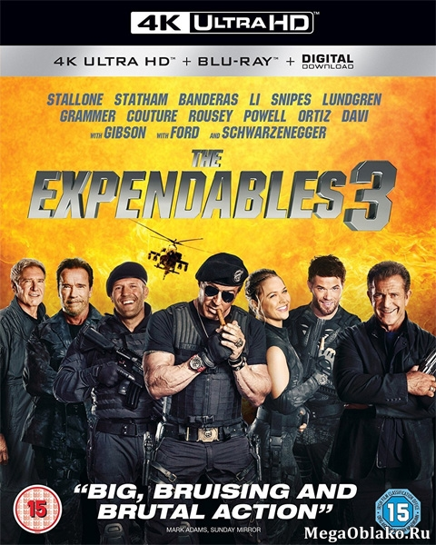 Неудержимые 3 / The Expendables 3 (2014) | UltraHD 4K 2160p