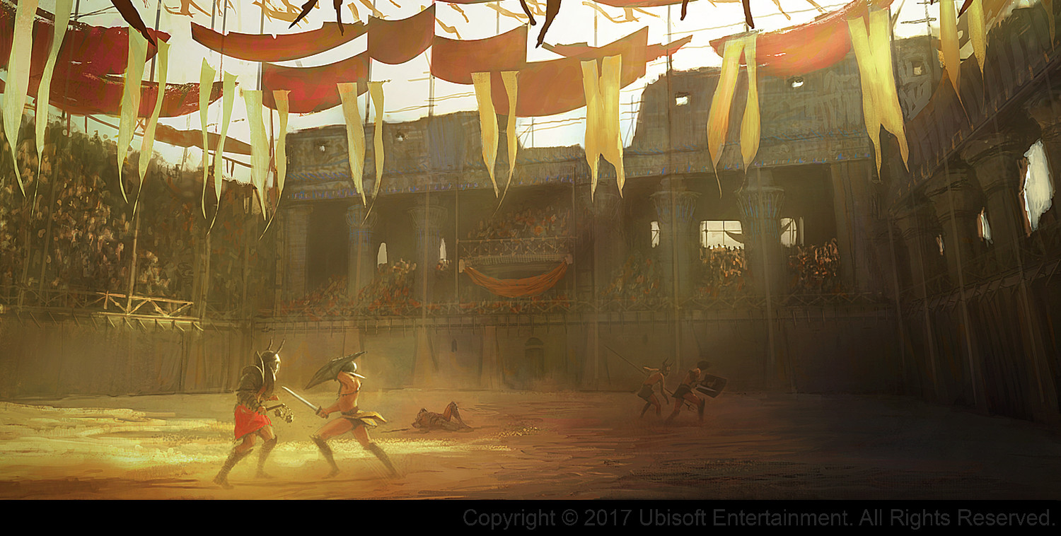 Assassin's Creed Origins Concept Art by Gilles Beloeil