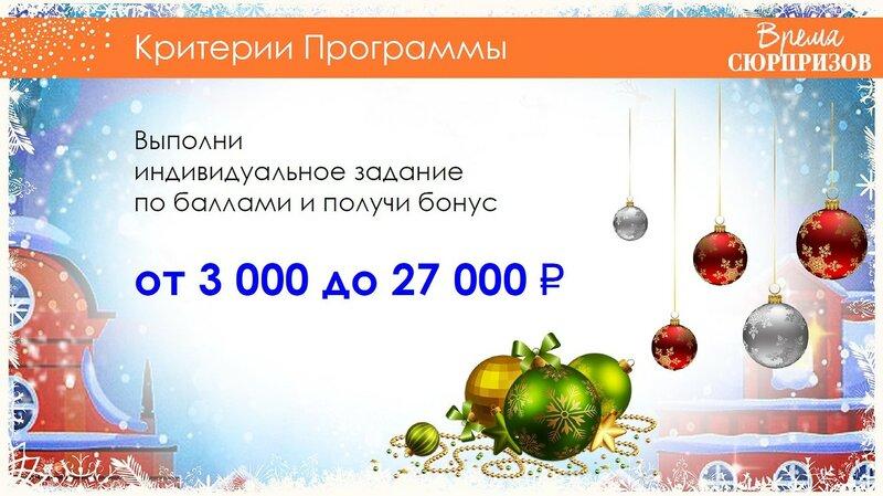 Новогодний бонус. Программа для Координаторов
