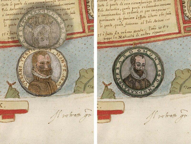Деталь Тавола XXXXII (Антарктида, Урбано Монте-портреты 1587 и 1589)