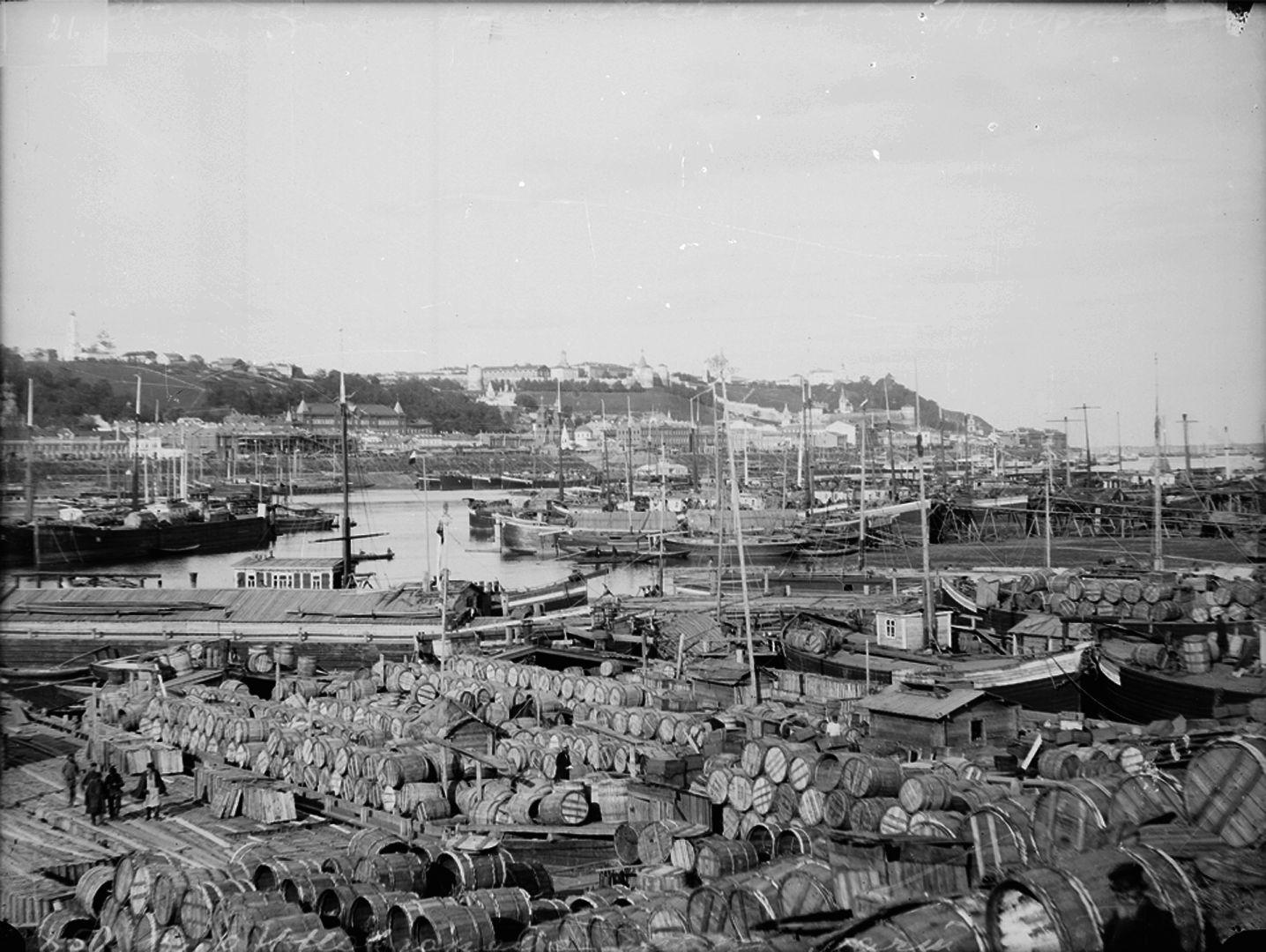 Вид на нагорную часть города. Часть панорамы. 1900