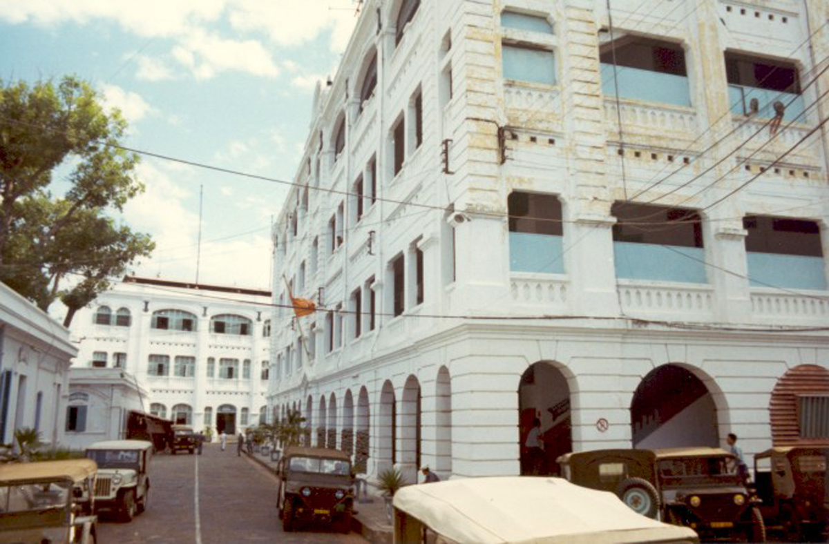 Военно-морской штаб на причале Баха Данг