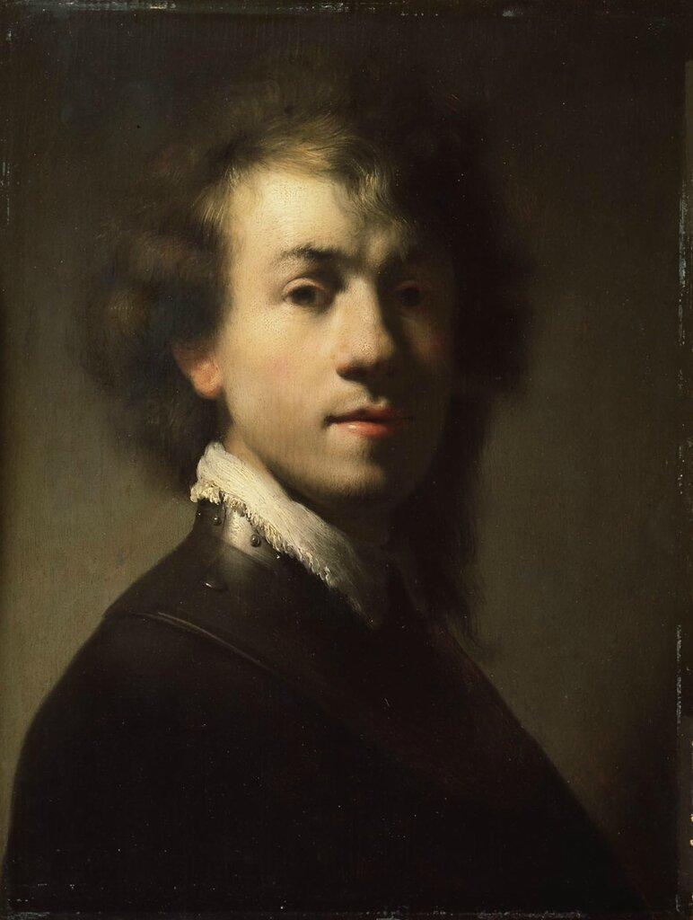 17.Автопортрет в 23 года (1629) (37.9 х 28.9) (Гаага, Королевская картинная галерея Маурицхейс).jpg