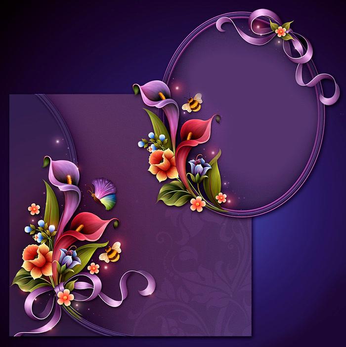 Красивые картинки. Фоны цветочно-романтичные