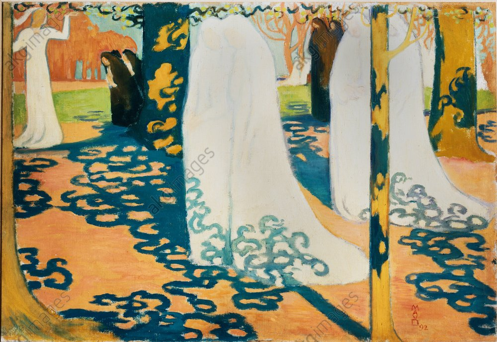 Maurice Denis, Prozession unter Bдumen - Maurice Denis / Procession under trees - M. Denis, Procession sous les arbres