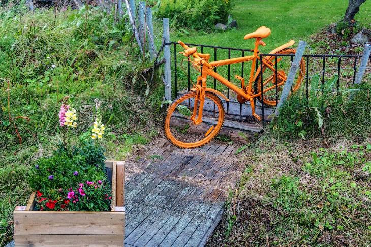 Велосипед, как искусство в Норвегии (18 фото)