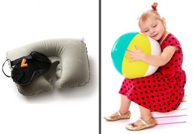© depositphotos       Надувной мяч помещается вкарман испасет вас, когда ребенку