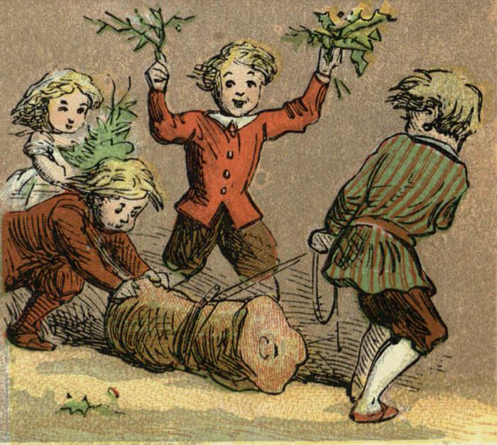 Дети и йольское полено     Путешествие по Европе     Само собой, доподлинно