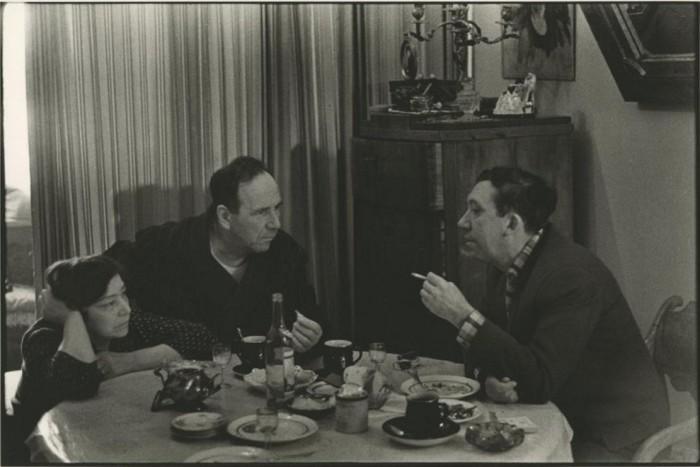 Аркадий Райкин, Леонид Утесов, Симона Синьоре и Ив Монтан. 1956 год